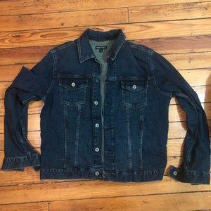 Oversized J.Crew Mercantile Dark Wash Denim Jacket